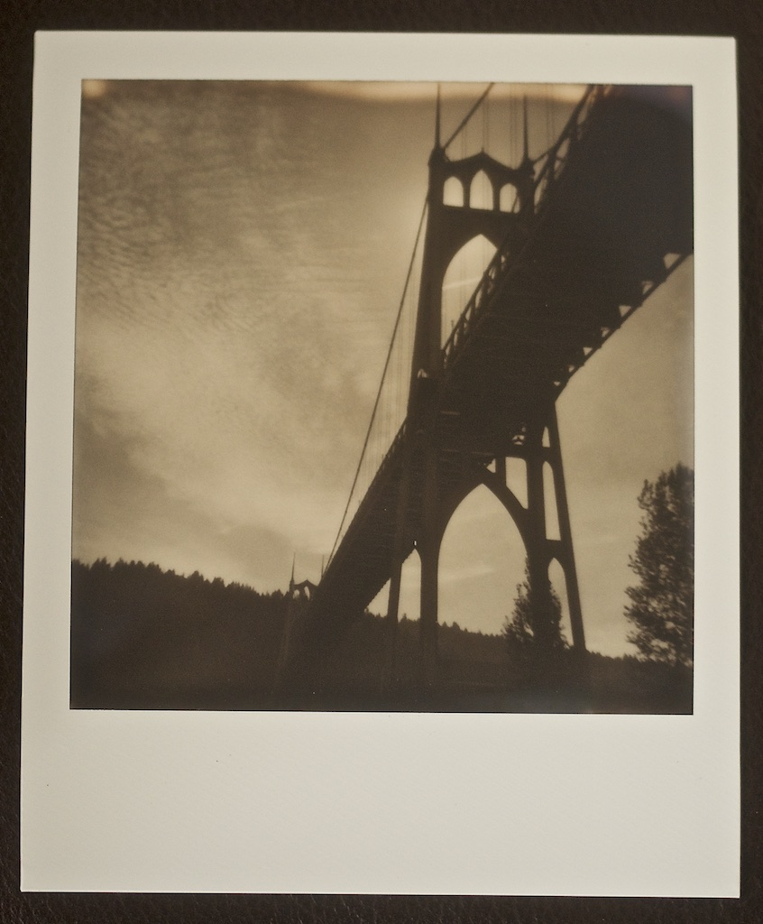 St Johns Bridge Polaroid