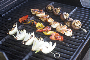 Skewers on the grill!