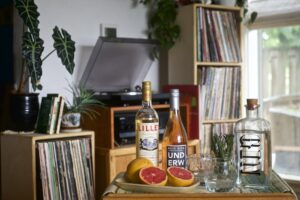 Records & Rosé Cocktails