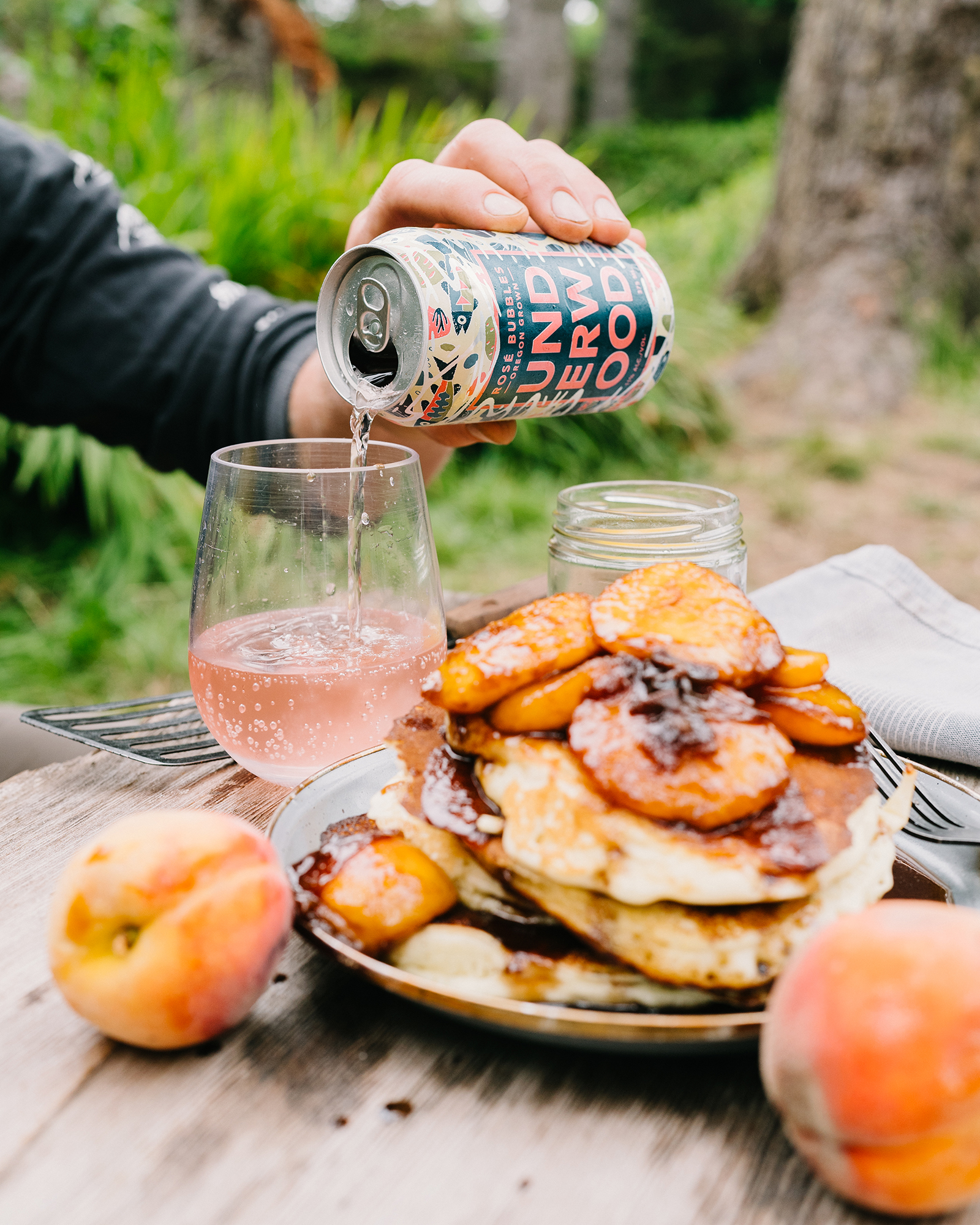 Maple and Whiskey Glazed Peaches for Pancakes or Waffles